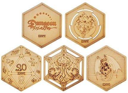 D&D Decorative Wood Coasters