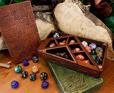 Wooden DnD Dice-box - Dice Tower